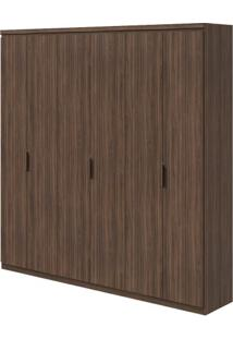 Guarda-Roupa Alonzo Plus - 100% Mdf - 6 Portas - Imbuia Naturale
