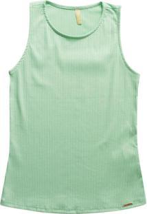 Blusa Feminina Adulto Sem Manga Verde