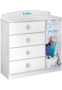 Cômoda Infantil Frozen Original Disney 1 Porta 4 Gavetas Pura Magia