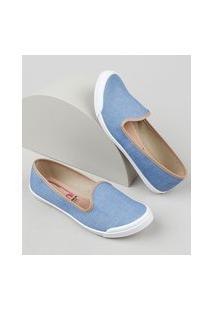 Slipper Jeans Feminino Moleca Azul Claro