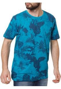 Camiseta Manga Curta Masculina Local Azul Claro