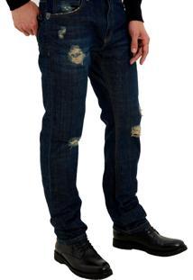 Calça John John Slim Monterosso 3D Jeans Azul Masculina Cc Slim Monterosso 3D-Jeans Claro-38