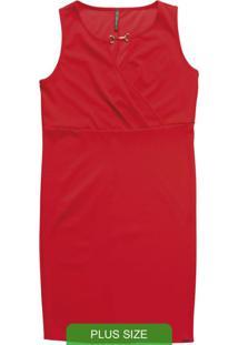 Vestido Curto Sem Manga Vermelho