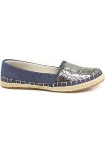 Alpargata Paetê Zariff Shoes 2270 - Feminino-Jeans