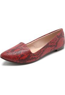 e634608cd9 Sapatilha Cobra Vermelha feminina