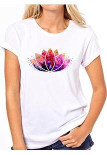 Camiseta Coolest Lótus Feminina - Feminino-Branco