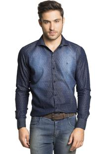Camisa Tony Menswear Estampada Slim Fit Jeans