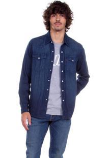 Camisa Jeans Levis Classic Western Indigo Azul