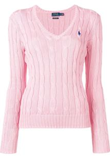 Polo Ralph Lauren Cable Knit Pullover - Rosa