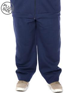Calça Moletom Plus Size Bigshirts Azul Marinho