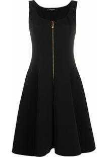 Versace Vestido Com Decote Quadrado - Preto