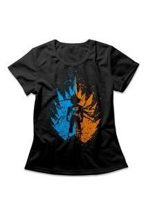 Camiseta Feminina Saiyajins Preto