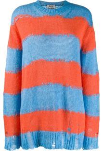 Acne Studios Distressed Striped Sweater - Azul
