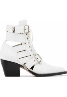Chloé Ankle Boot Rylee - Branco