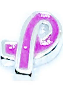 Pingente Laã§O Rosa Memories Prata 925 Esmaltado Cã¡Psula - Roxo - Feminino - Dafiti