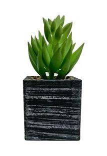 Vaso Com Suculenta Artificial Sedum - Único
