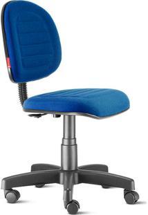 Cadeira Escritório Executiva Costura Azul Royal