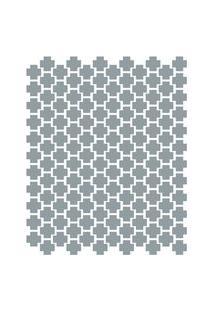 Adesivo De Parede Cruzes Cinza 138Un 4X4Cm