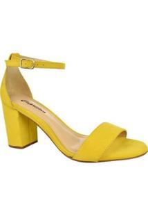 Sandália Capriccio Tira Feminina - Feminino-Amarelo