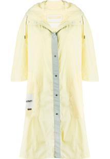 Yves Salomon Army Jaqueta Impermeável Com Capuz - Amarelo