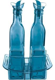Conjunto Galheteiro Euro Home 6490 5Pçs Azul