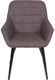 Cadeira Provence- Cafã© & Preta- 84X60X40,5Cm- Oror Design