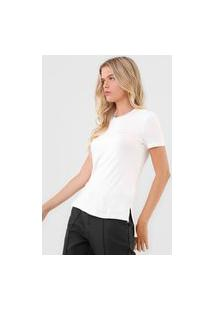 Blusa Calvin Klein Recorte Central Off-White