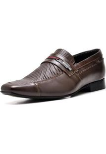 Sapato Executivo Top Franca Shoes Masculino - Masculino-Cafe