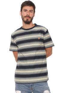 Camiseta ...Lost Listrada Degrade Krew Azul-Marinho/Amarela