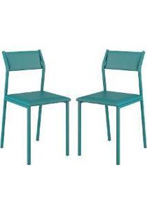 Cadeira Opaque 2 Peças Turquesa - Carraro