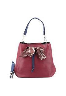 Bauarte - Bucket Bag Com Detalhe De Lenço Bauarte - Bucket Bag Com Detalhe De Lenço Vinho