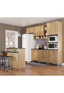 Cozinha Compacta Com Tampo 11 Portas 3 Gavetas 5844 Argila - Multimóveis