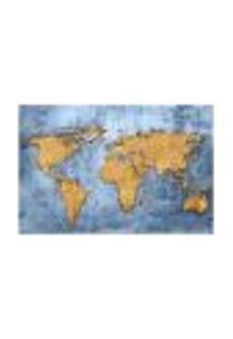 Painel Adesivo De Parede - Mapa Mundi - Mundo - 798Pnp