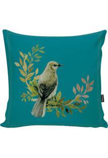 Capa Para Almofada Birds- Verde Água & Verde Claro- Stm Home