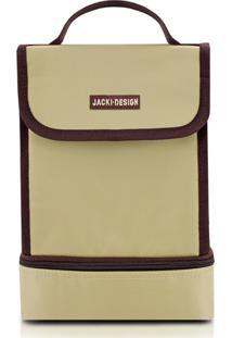 Bolsa Térmica Com 2 Compartimentos Jacki Design Ahl16078 Bege