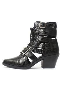 Bota Gladiadora Damannu Shoes Jennie Preto