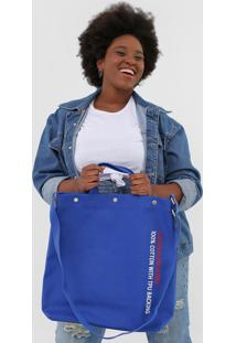 Bolsa Calvin Klein Lettering Azul-Marinho - Kanui