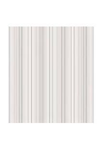 Papel De Parede Listrado Branco, Marfim E Cinza Para Sala E Quarto