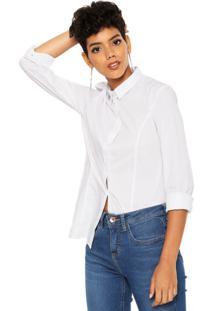 Camisa Calvin Klein Jeans Bordado Branca
