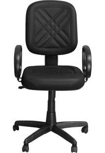 Cadeira Pethiflex Pd-01Gpbp Giratória Couro Preto