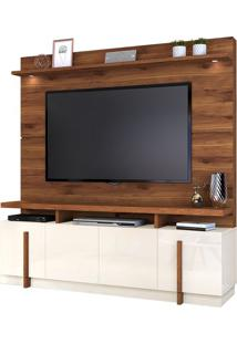 "Estante Home Para Tv Até 65"" Bari Rústico Terrara/Off White"