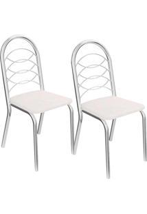 Kit 2 Cadeiras Holanda C009 - Kappesberg - Branco