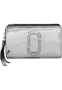 Marc Jacobs Carteira Snapshot Mirrored Compact - Prateado
