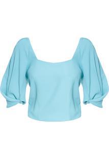 Blusa Feminina Box Crepe - Azul
