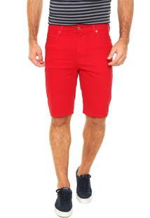 Bermuda Lacoste Comfort Vermelha
