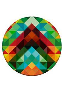 Tapete Love Decor Redondo Wevans Triângulos Abstrato Color Multicolorido 94Cm