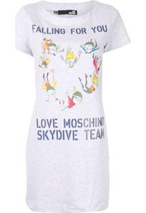 Love Moschino Vestido 'Skydive Team' - Cinza