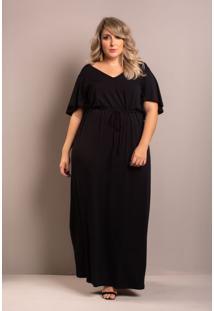 Vestido Longo Comfy Black Plus Size