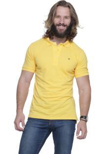 Camisa Polo Alfaiataria Burguesia Slim Fit Amarela