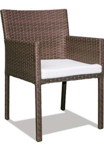 Cadeira Regata Área Externa Fibra Sintética Estrutura Alumínio Eco Friendly Design Scaburi